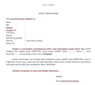 Surat Permohonan Generate SKAKPT Manual
