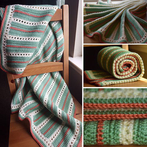 Elegant Squares Baby Blanket