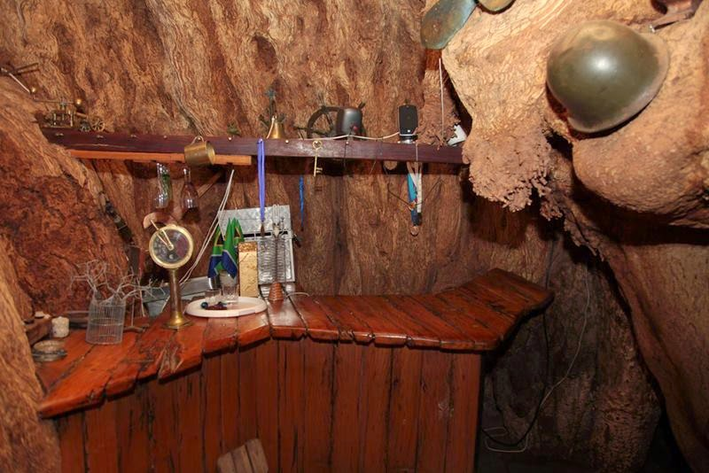 Inside the Sunland Baobab tree, Limpopo Province A small bar can be found inside the Baobab Tree.