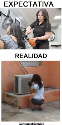 expectativa vs realidad: Secandose el cabello