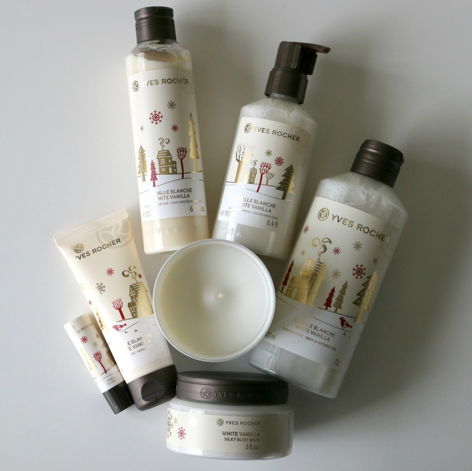 Yves Rocher White Vanilla Bath & Body Christmas Collection