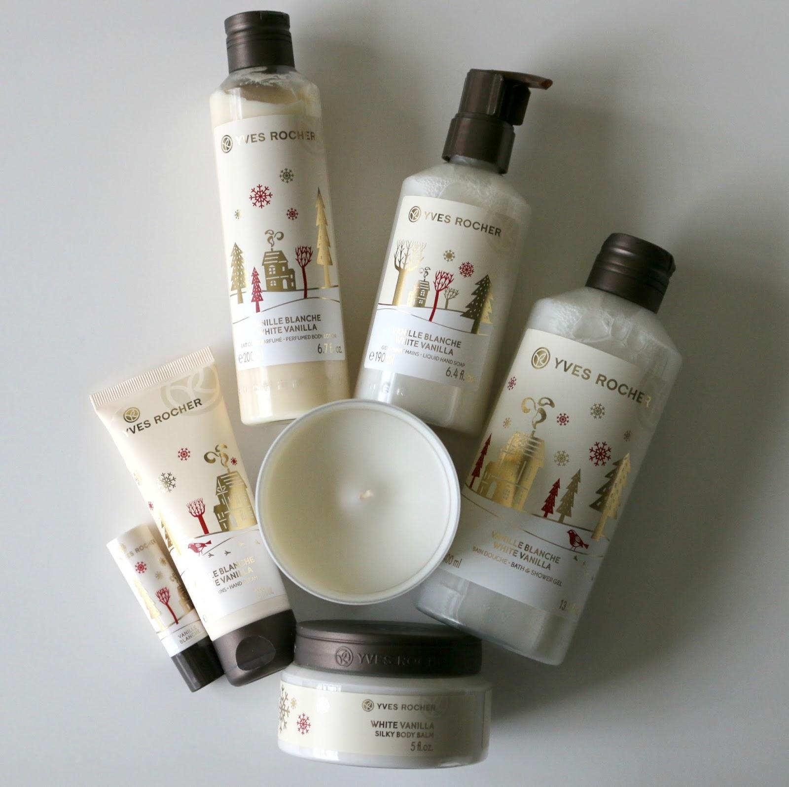 Yves Rocher White Vanilla Bath & Body Christmas Collection