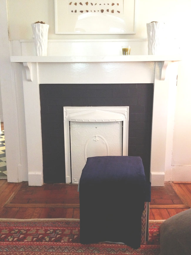 a creative day: black front door / dark fireplace / dwell