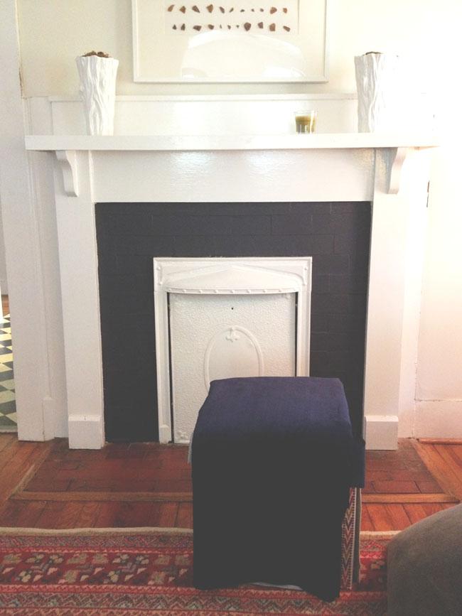 a creative day: black front door / dark fireplace / dwell