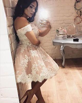 vestido cóctel con encaje elegante de verano