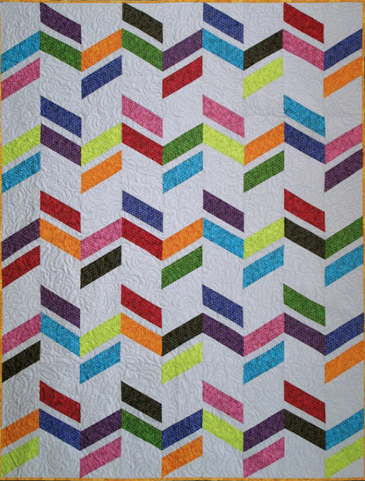 Zig and Zag Quilt Free Pattern designed by Linda Ambrosini Featuring Fabrics From the new blender collection
