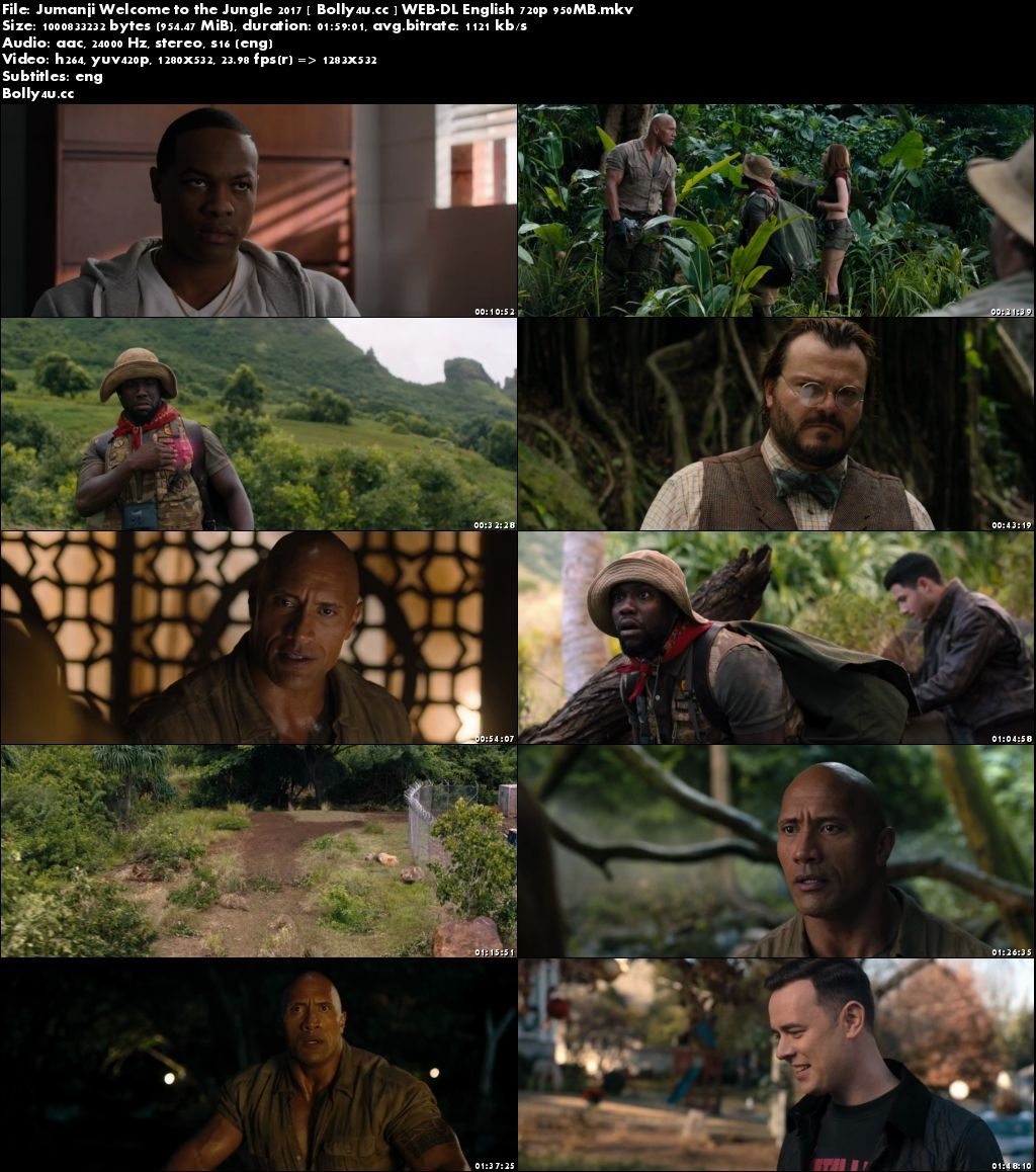 Jumanji Welcome to the Jungle 2017 WEB-DL 350MB English 480p ESub Download