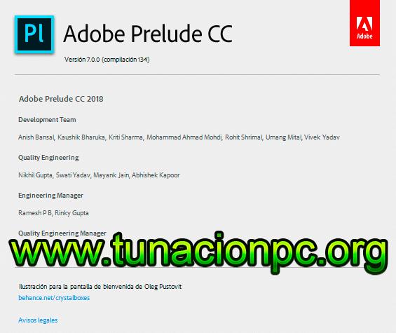 Adobe Prelude CC 2018 con Activador