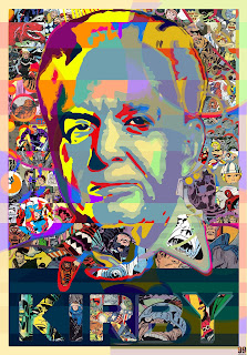 Jack Kirby collage by Russell Payne