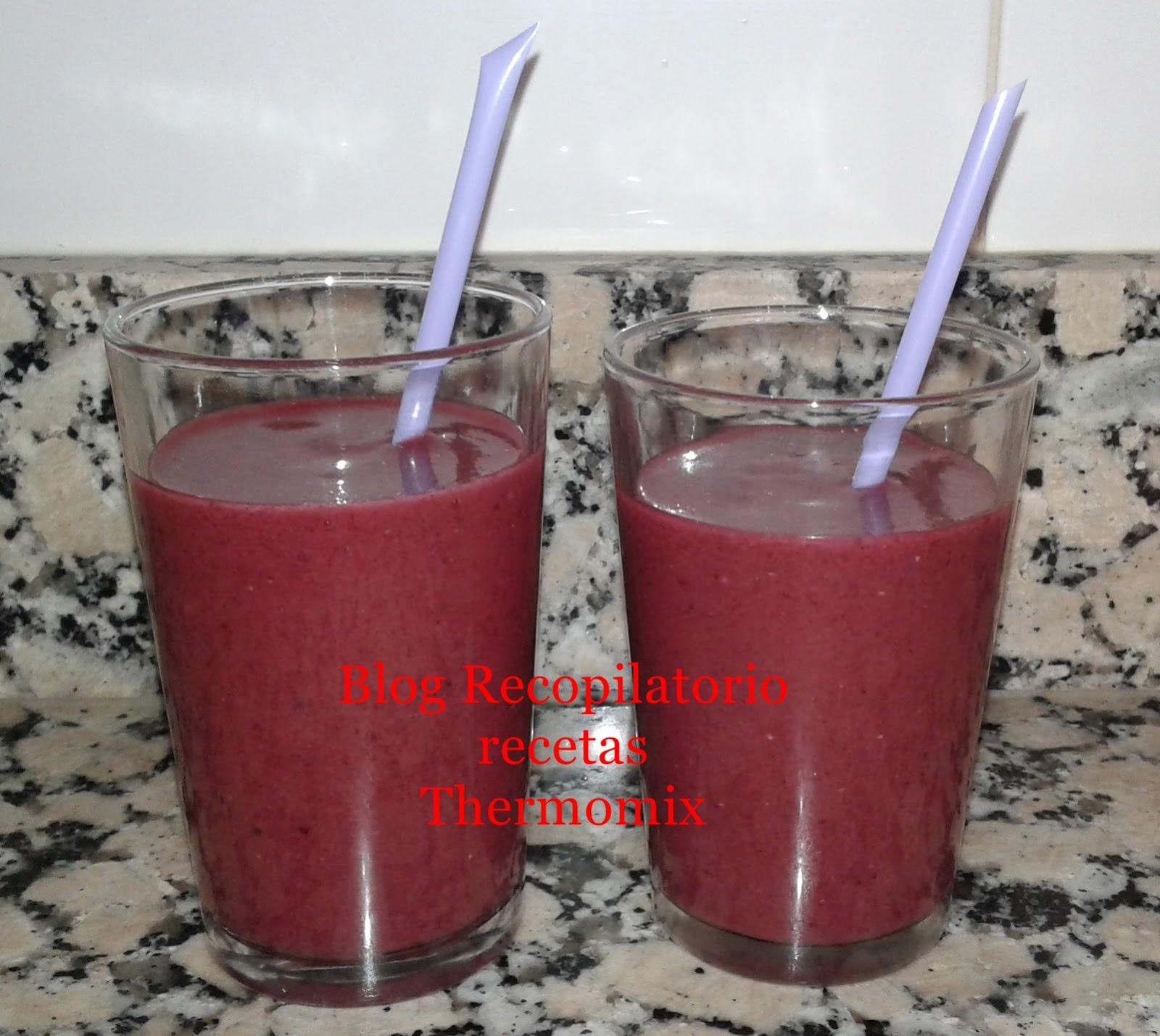 Recopilatorio De Recetas Thermomix Smoothie Con Frutas Del Bosque