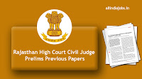 Rajasthan High Court Civil Judge Prelims Previous Papers
