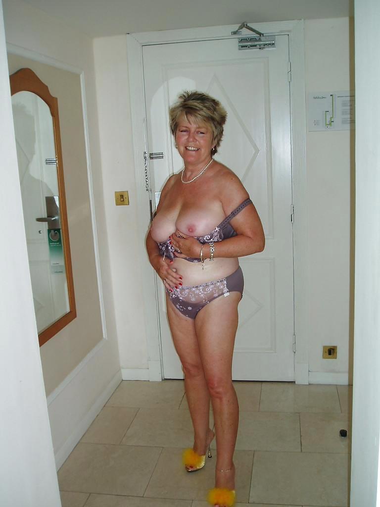 Granny Flashes Tits