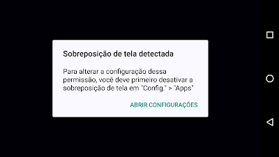 Tutorial: Como resolver o problema Sobreposição de tela detectada no Android Marsmallow