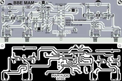 PCB Layout Audio Processor BBE MAM
