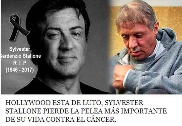 La falsa muerte de Sylvester Stallone se hace viral en las redes sociales