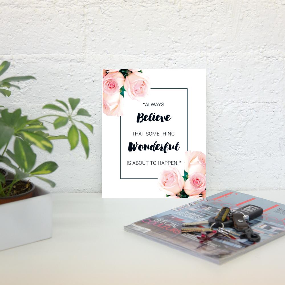 Aniversário do blog // Freebies para decorar sua casa e seu desktop - plano de fundo, papel de parede, download, grátis, decoração, prints, poster, quadros, aniversário, blog, 1 ano, celebração, baixar grátis, rosa, flores, inspiração, mensagem positiva, motivação