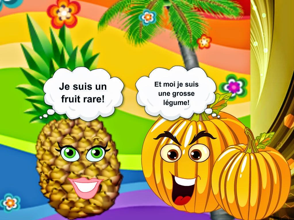 La classe de fran ais expressions imag es avec fruits et - Fruit ou legume en i ...