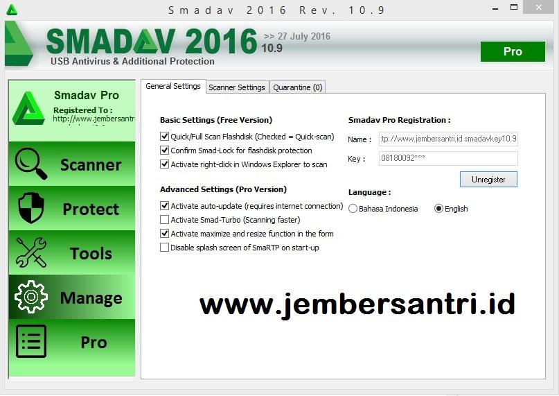 Serial key smadav 2016 rev 10.9