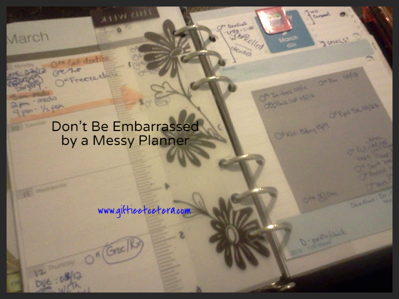 planner, messy, decorated planner pages