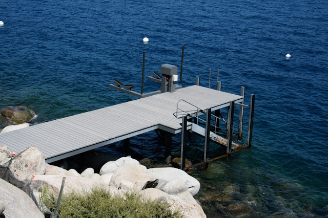 private pier at the Lake House