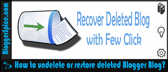 recover deleted blog