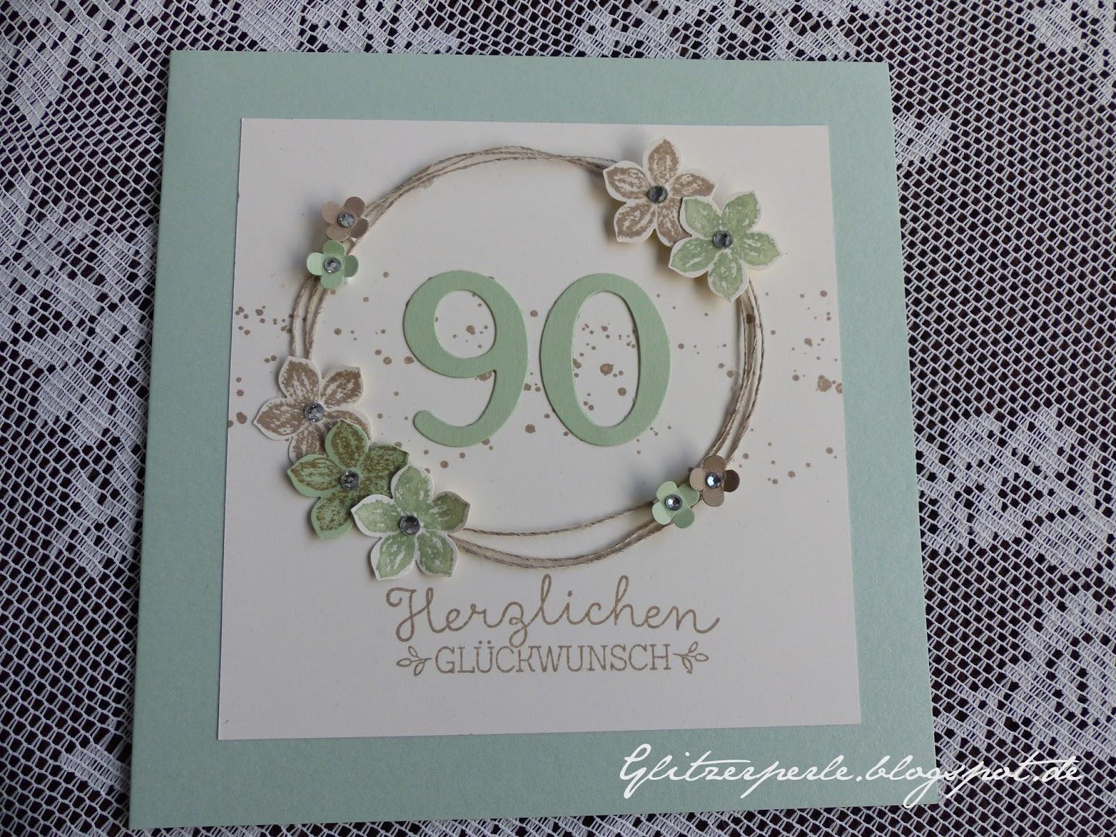 Glitzerperle 90 geburtstag - Geburtstagsideen zum 90 ...