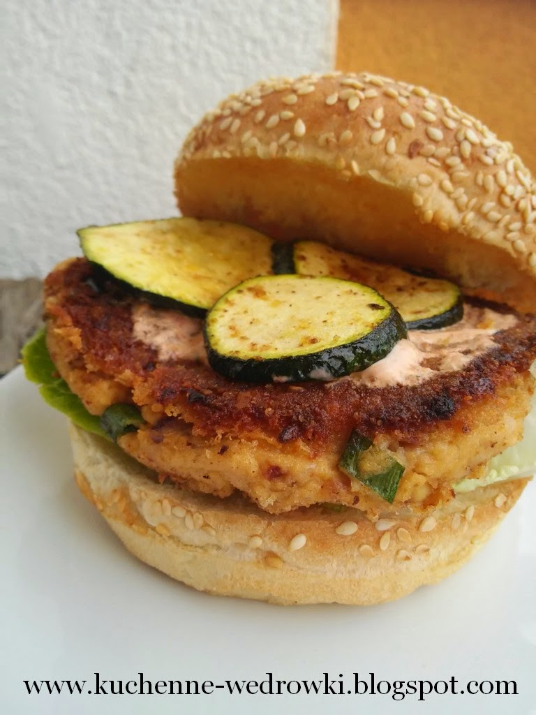 Chickpea and feta cheese burger