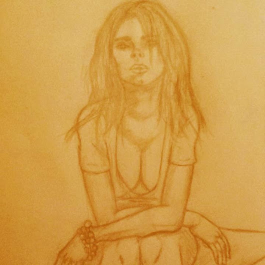 Quick sketch of a girl sitting