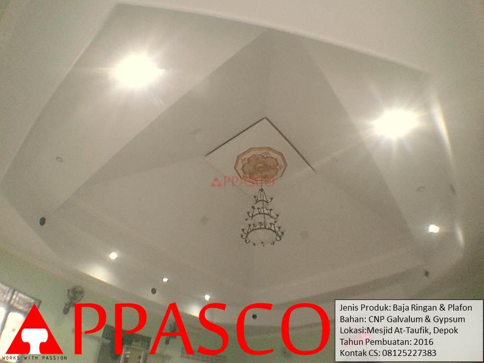 Renovasi Atap Baja Ringan dan Plafon di Masjid At-Taufik Depok