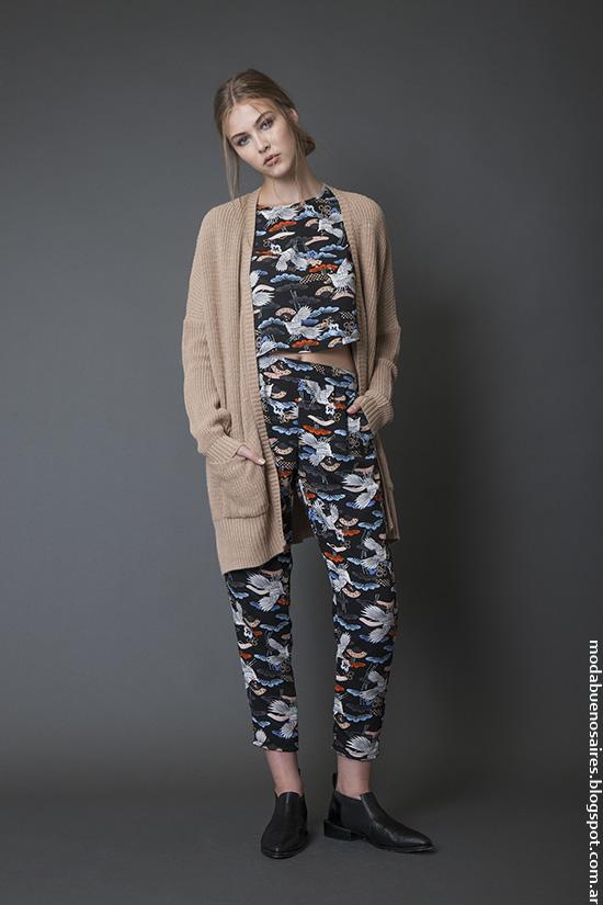 Moda invierno 2016 sacos de moda mujer 2016.