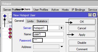 Menambahkan User Pada HotSpot