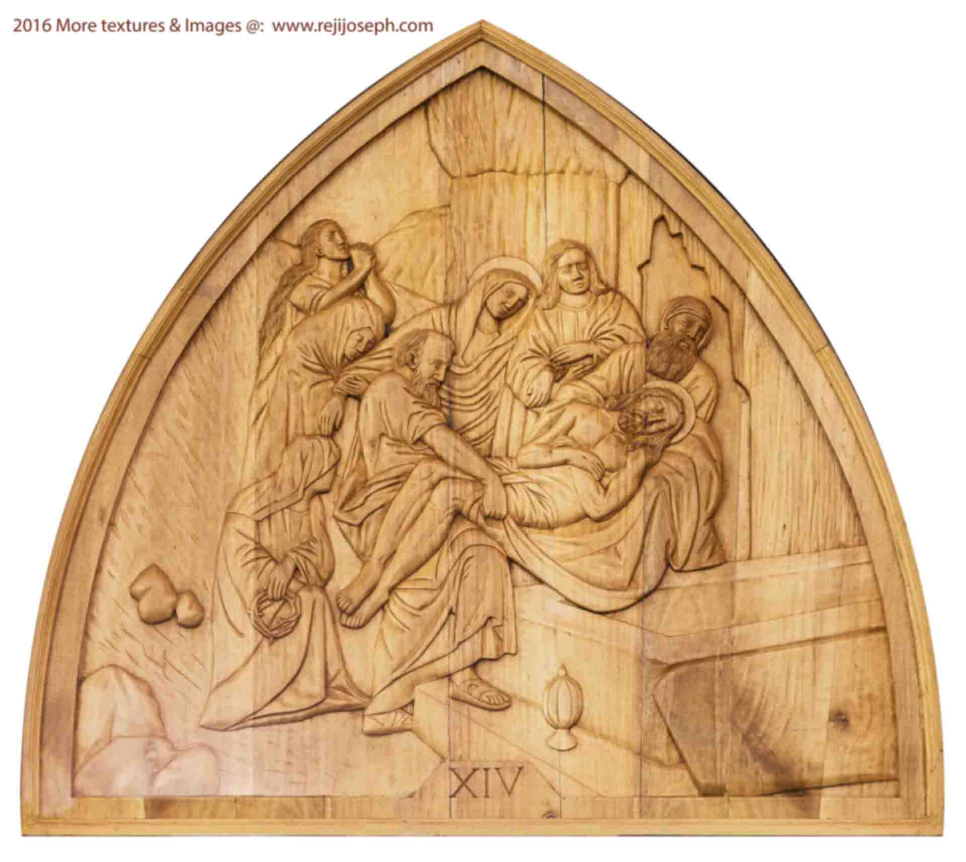 Way of the cross wooden relief 014