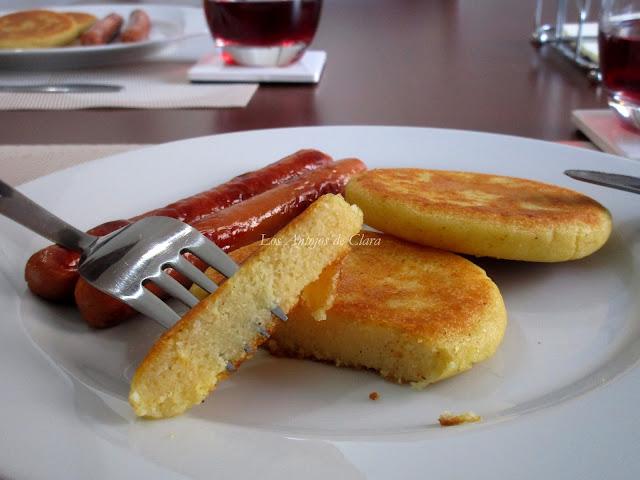 Arepas con queso de Burgos