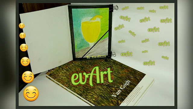 A glass of juice. Van gogh sketch book. Realistic (Independent) Creativity - Menggambar - Memasak - Menjahit