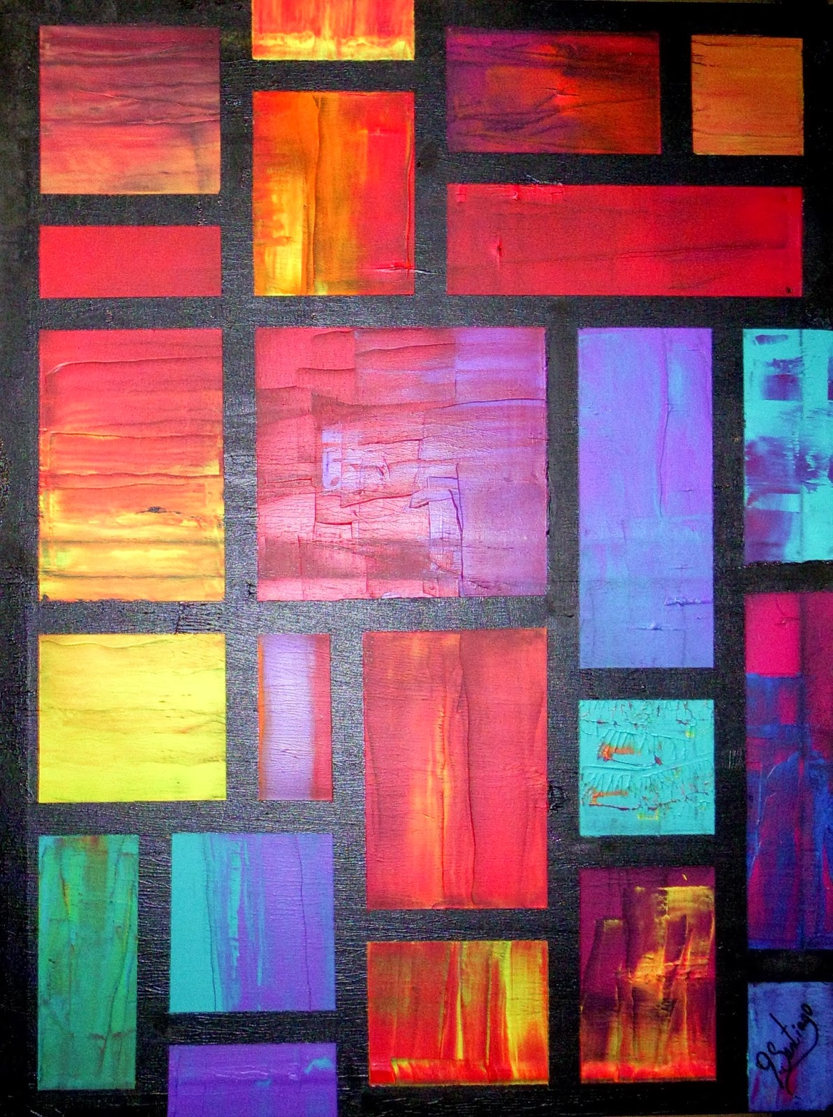 sofa paintings abstract parker knoll bed joey santiago fine art