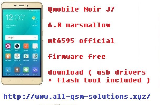 Qmobile Noir J7 MT6595 6.0 flash file free download