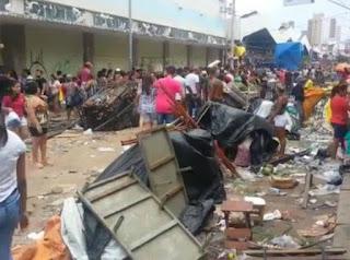 Guarda Municipal fica ferido após tumulto com feirantes em Fortaleza (CE)