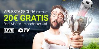 luckia Apuesta segura Real Madrid vs Manchester 23 julio