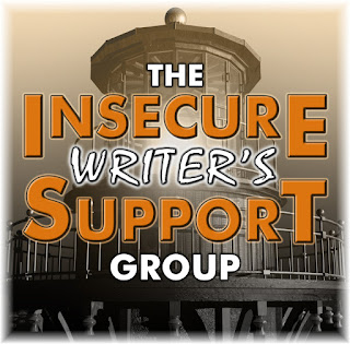 This logo for The Insecure Writer's Support Group depicts a lighthouse in the background.
