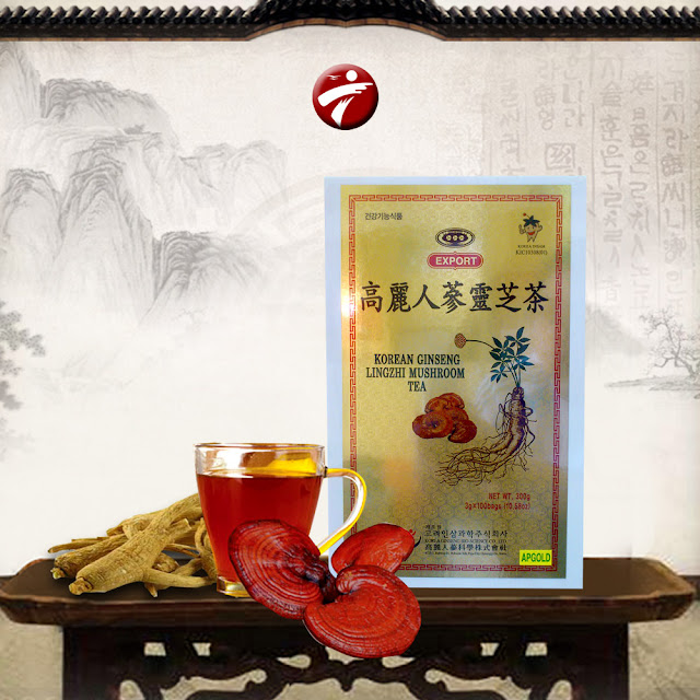trà nấm linh chi hàn quốc