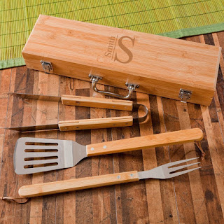 Personalized BBQ Tool Set and Case
