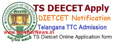 Telangana DEECET 2017 TS DIETCET Notification Apply Online Syllabus Exam Pattern