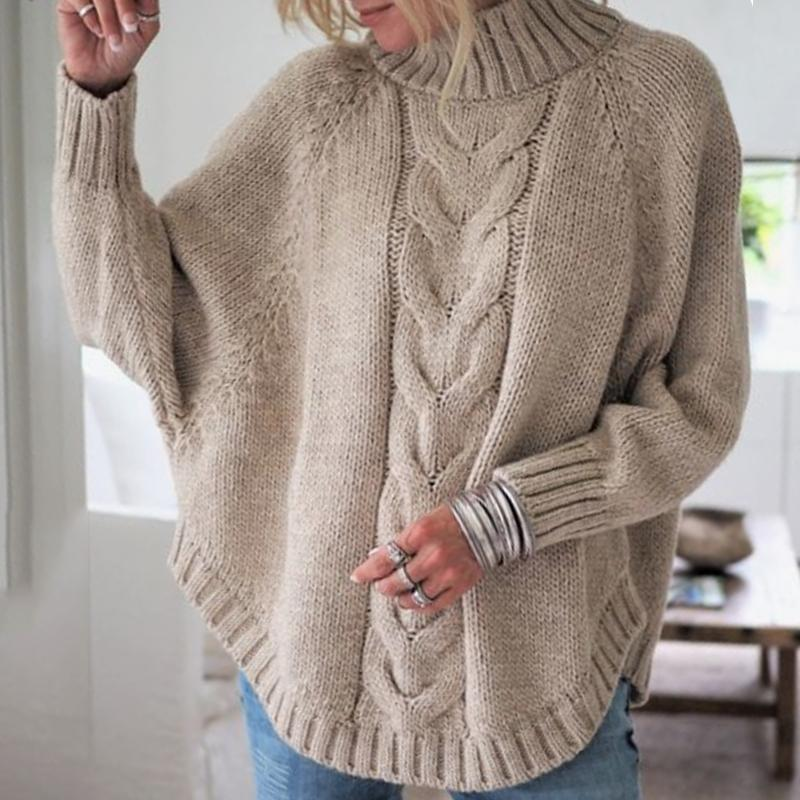 Little High-Necked Bat Sleeve Sweater - $28.45