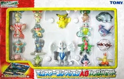 Plusle figure Tomy Monster Collection AG 18pcs figures set