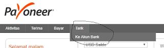 Cara Melakukan Withdraw Payoneer ke Bank Lokal
