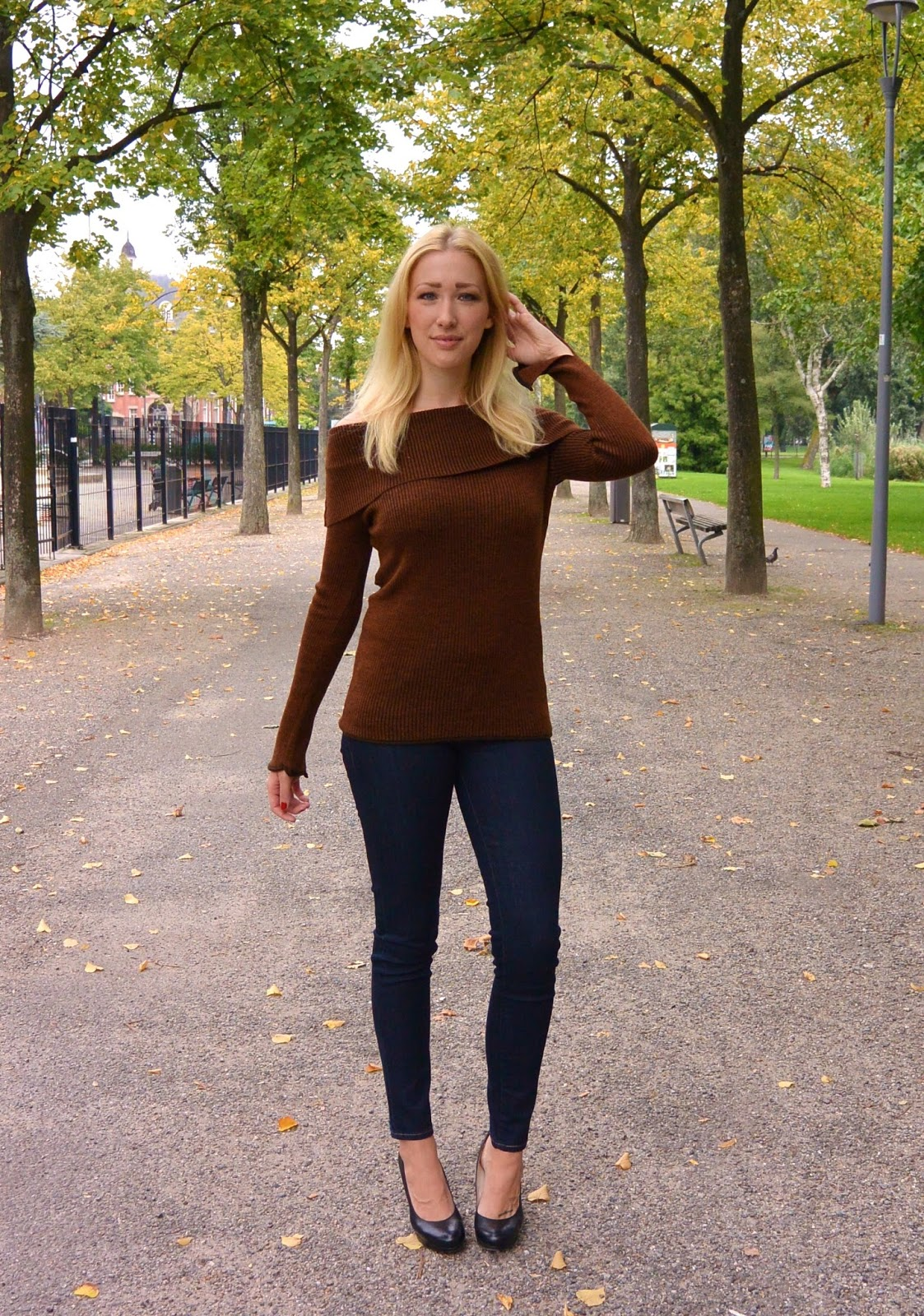 a3706cf533 Brown Off The Shoulder Sweater