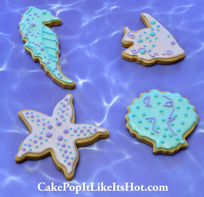 under the sea cookies; under the sea; ocean cookies