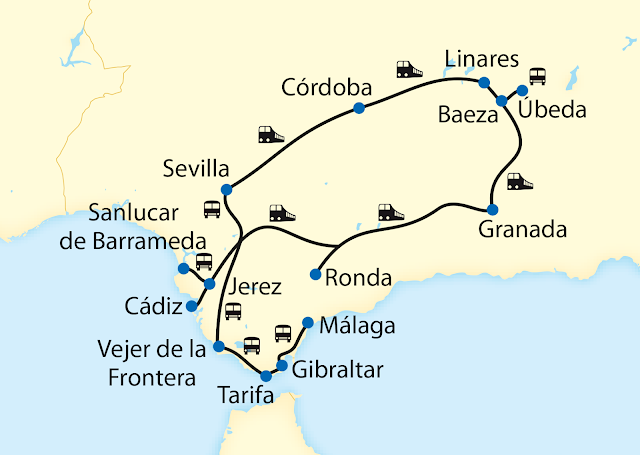 Al Andalús: Route Andalusien