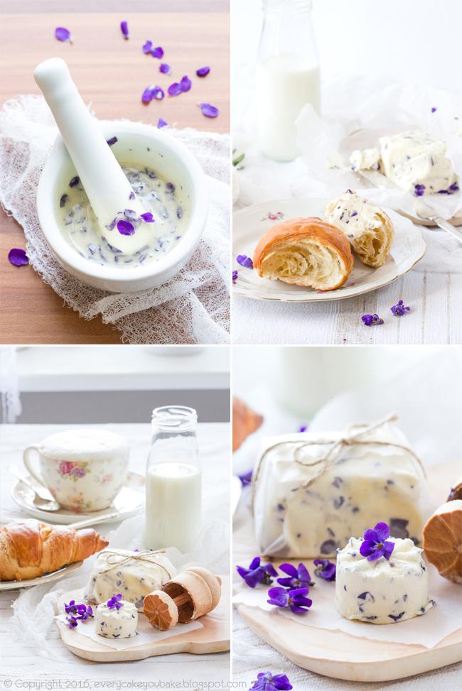 masło aromatyzowane kwiatami fiołka i miodem