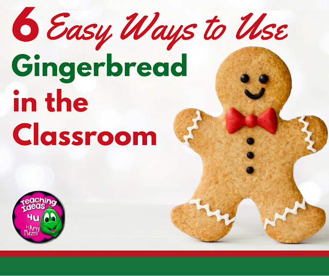 6 Easy Ways to Use Gingerbread in your Classroom - Holding a thematic day (or two) before the winter break is a lot of fun! Both teachers and students are ready for break, so doing something out of the ordinary can help keep everyone motivated. Gingerbread is a great theme for upper elementary - and teachers have so many activities they can use. By the end of this post, you will have ideas for using gingerbread in reading, writing, math, and STEM.